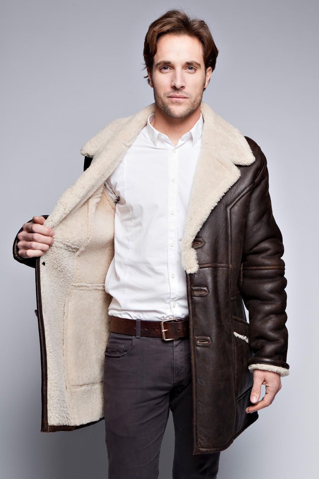 superbe manteau fourrure theodore marron pour homme. Black Bedroom Furniture Sets. Home Design Ideas