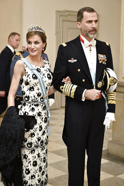 Queen Maxima and King Willem-Alexander of The Netherlands, King Philippe and Queen Mathilde of Belgium, Queen Letizia and King Felipe of Spain, Crown Prince Frederik and Crown Princess Mary of Denmark, Prince Joachim and Princess Marie of Denmark, King Carl XVI Gustaf and Queen Silvia of Sweden