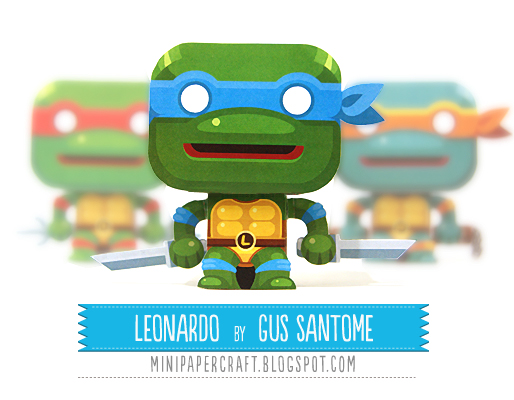 Teenage Mutant Ninja Turtles TMNT Mini Leonardo Paper toy