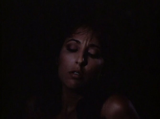 Porn star scene in Evils of the Night (1985)