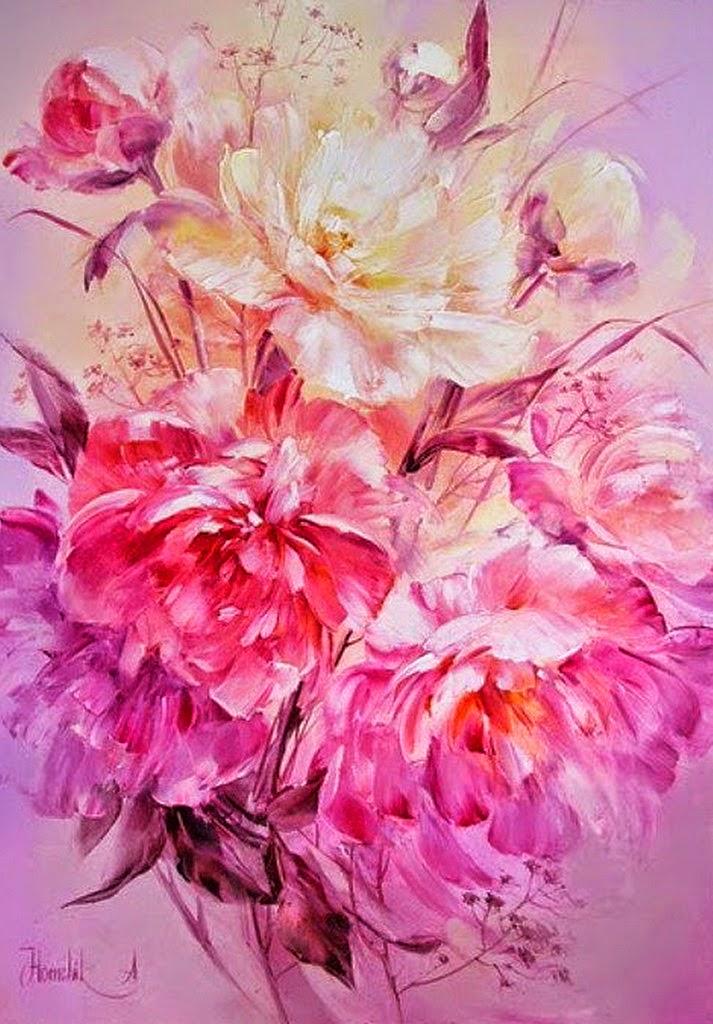 cuadros-de-flores-pintadas-con-espatula