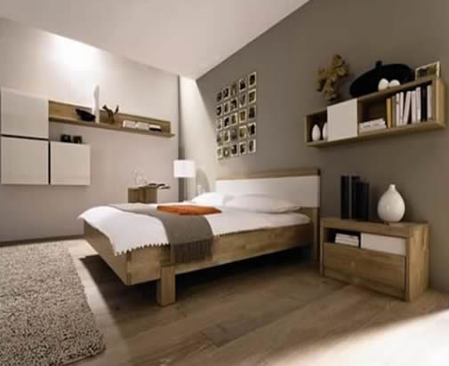 Charmant Clean Shapes, Eye Friendly Colors And Unusual For Those Who Can Save Their  Rooms Nice And Need All Their Goods. This Is Modern Single Bedroom Design  From ...