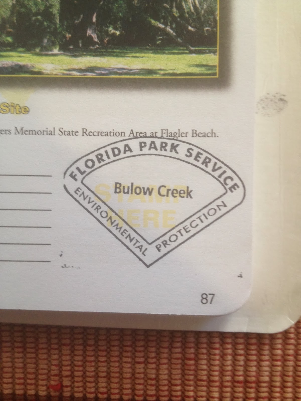 An Example Of A Florida Park Service Passport Stamp For One Of Its Units  Watching The Looking At How To Get