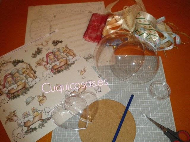 Cuquicosas blog como decorar bolas de navidad con papel de scrapbooking - Como decorar una bola de navidad ...