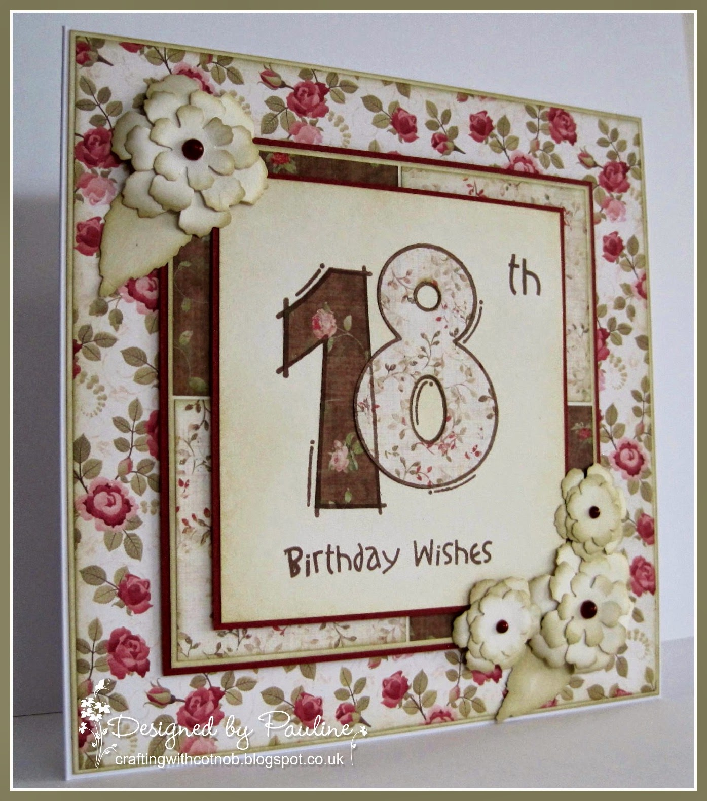 Crafting With Cotnob: Special 18th Birthday Wishes