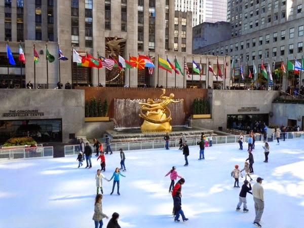 Rockefeller Center ice-skating New York