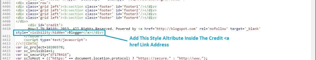 Blogger Template Editing