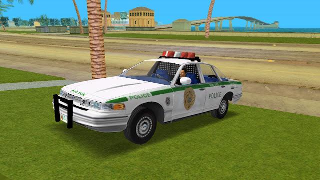 Ford Crown Victoria 1997 Miami Police GTA Vice City