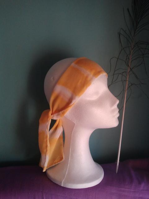 pañuelos para el pelo, amarillo, verano, hippie