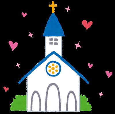 結婚式のイラスト「教会・チャペル」