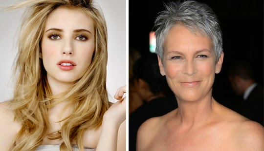 SCREAM QUEENS casts Emma Roberts and Jamie Lee Curtis