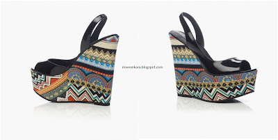 Cabo Black Patent Tribal Aztec Print wedges - Louise Roe for Stylist Pick - iloveankara.blogspot.com