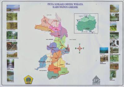 Peta Lokasi Obyek Wisata Kabupaten Gresik