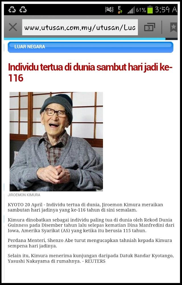 Menariknya Jiroemon Kimura Individu Tertua di Dunia Terbaru