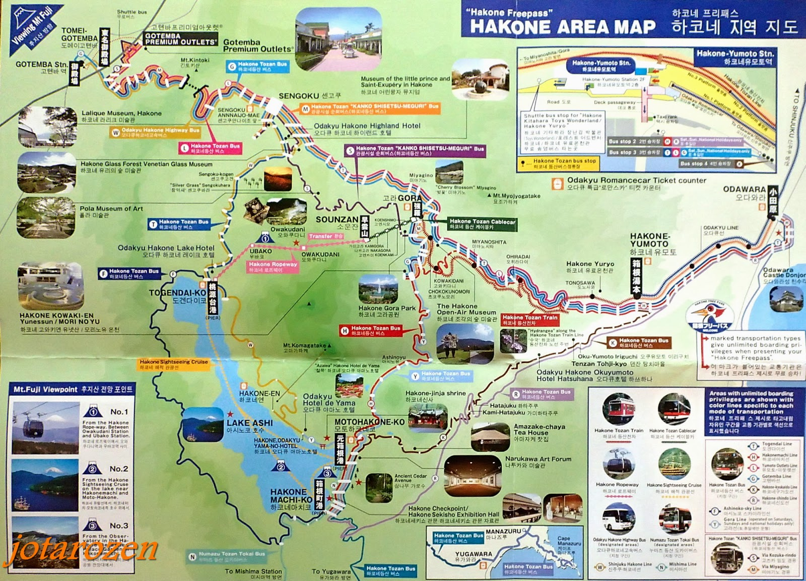 Japan Day Tours Map