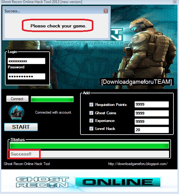 Ghost Recon Online Hack Tool 2013[new version ] : Hack, Cheat Game
