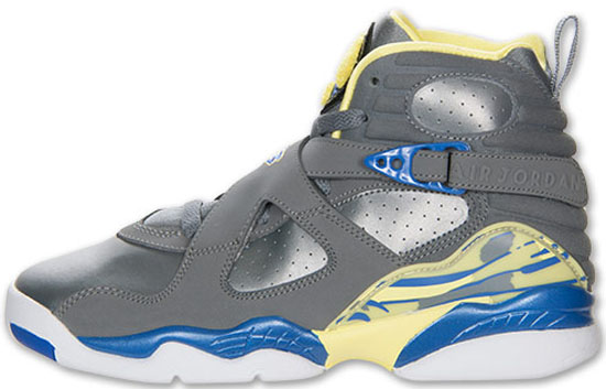 blue and white jordan 8