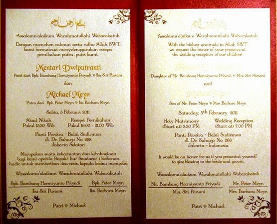 Supplier Kartu Undangan Kata Kata Dalam Undangan Pernikahan