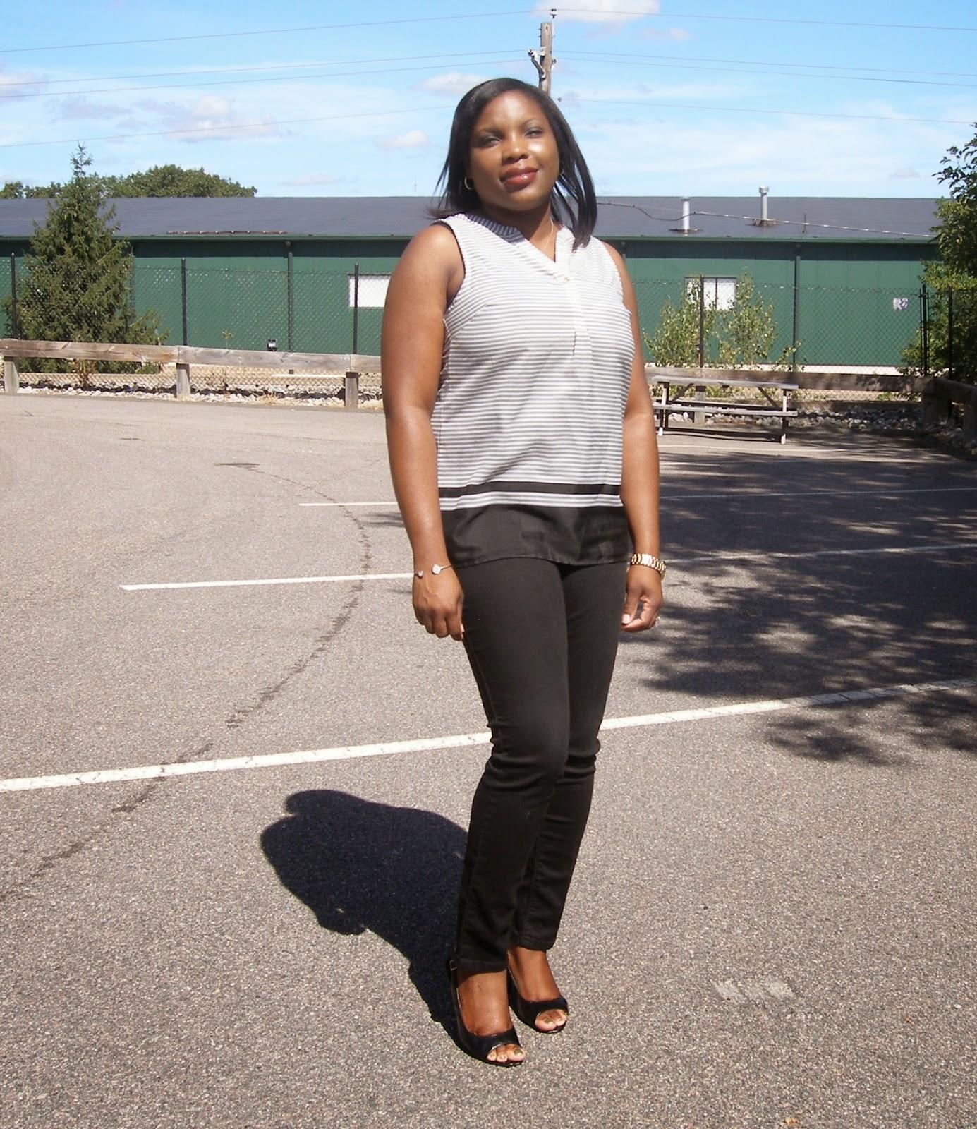 Black skinny jeans fit