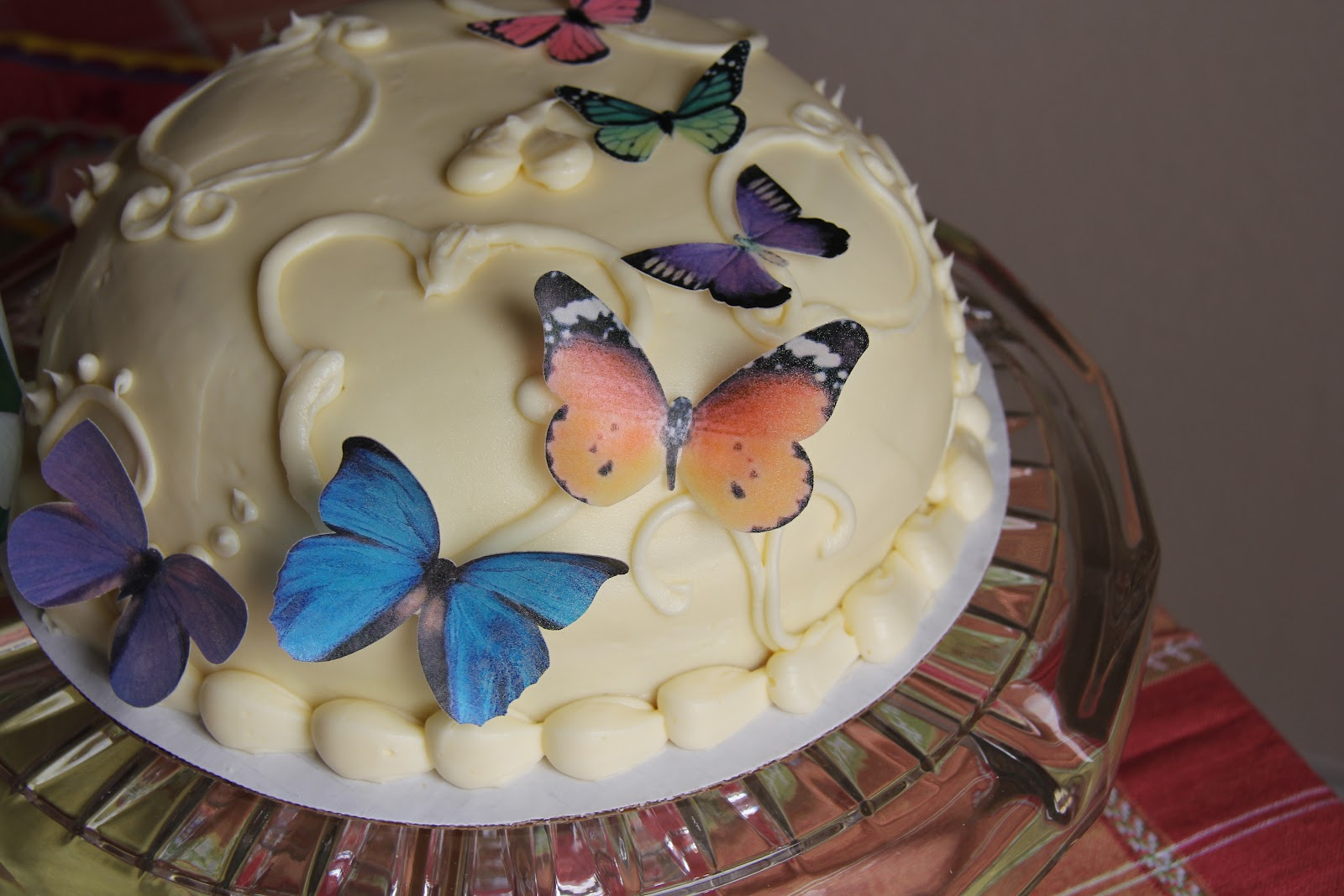 Butterfly Edible Cake Images : Express Your Creativity: Edible Butterfly Cake