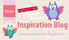 I design voor het Inspiratie blog met creaties gemaakt door het Designteam van Marianne Design