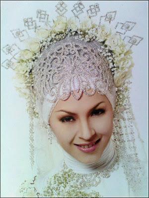 Model jilbab pengantin modern