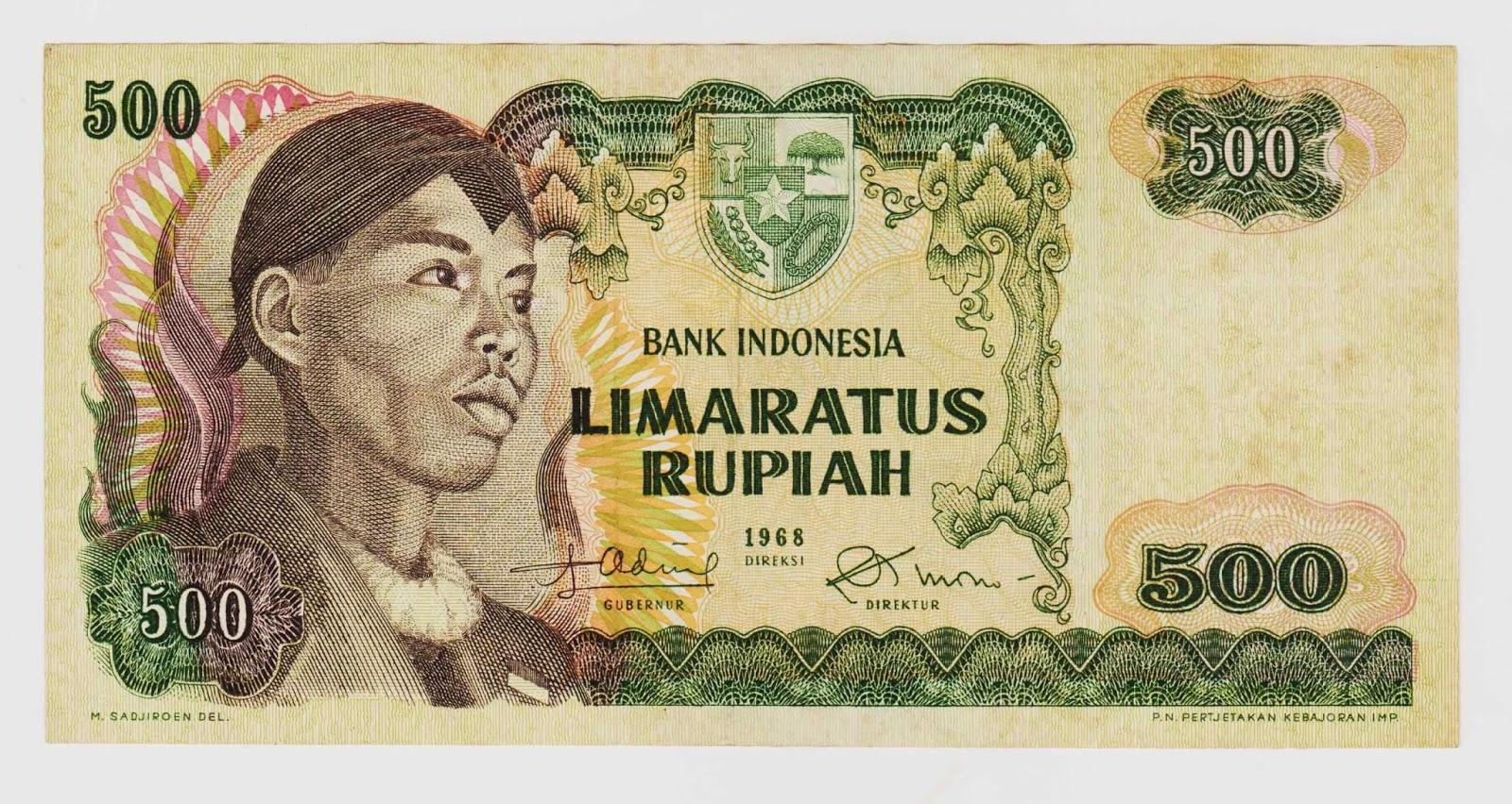 uang kuno Seri Soedirman tahun 1968 Pecahan 500 rupiah