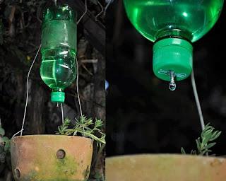 Sistema Casero de Riego por Goteo con Botellas Descartables