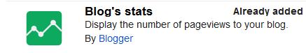 Stat Bawaan Blogger.com