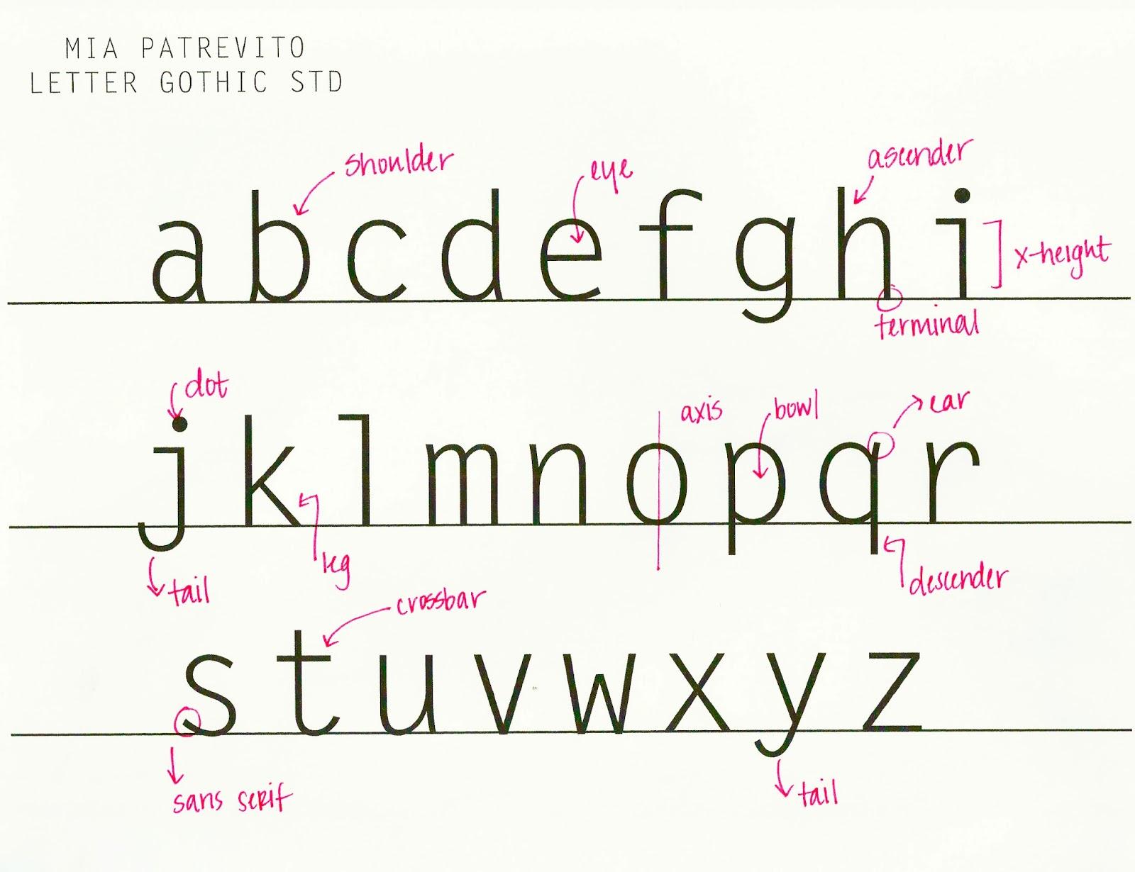 typography anatomy 28 images gd230 winter2013 typography anatomy veronica perez font is 187