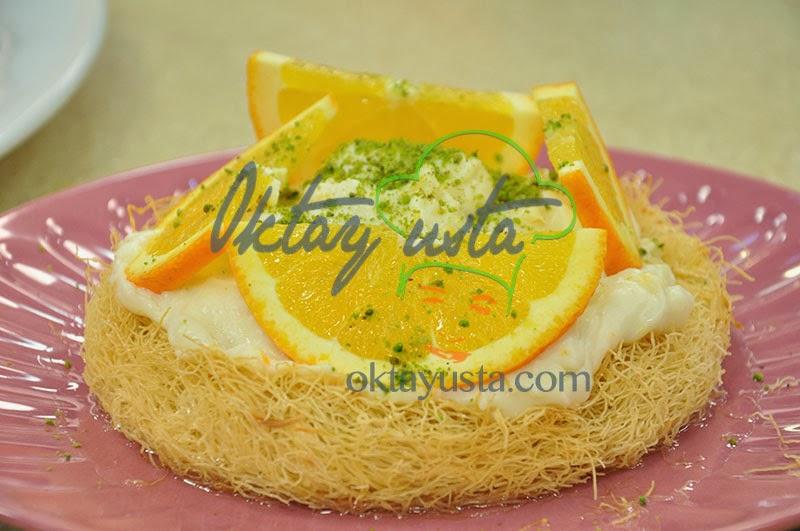 Portakallı Kremalı Kadayıf Tatlısı Tarifi