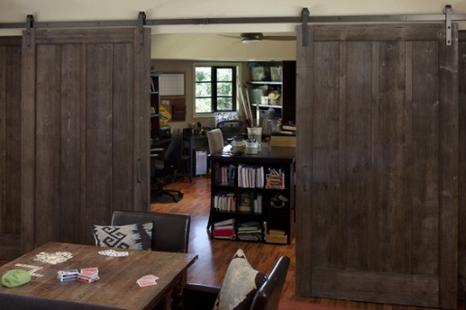 Sue in oz sliding barn doors for Sliding doors interior room divider