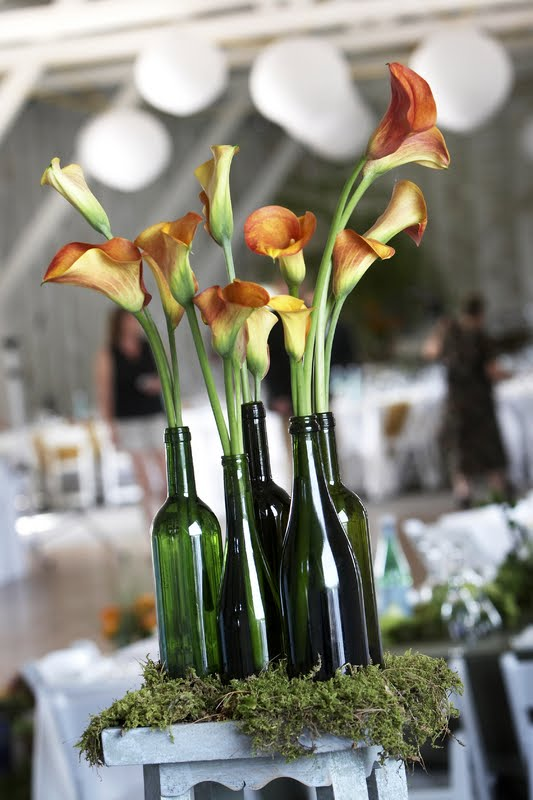 Pure dymonds events gorgeous wine bottle centerpiece ideas
