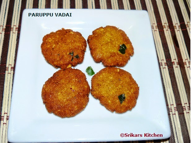 PARUPPU VADAI  FOR NEIVEDHAMS ( NO ONION NO GARLIC RECIPE)