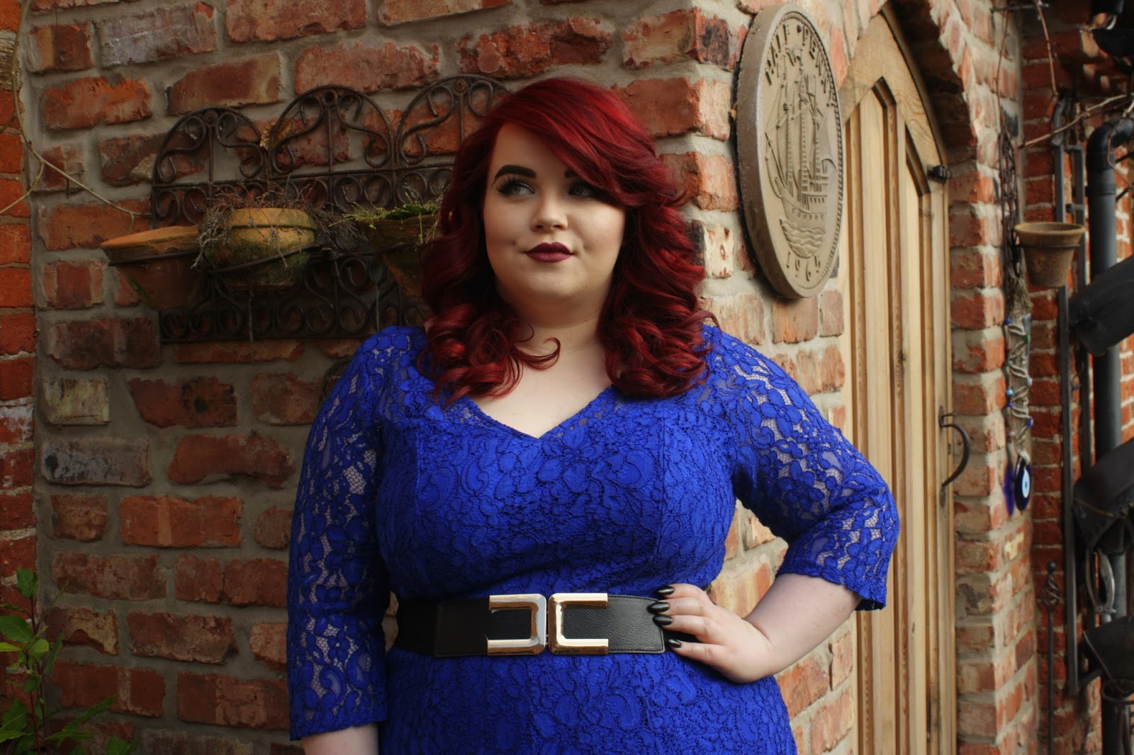 George at Asda Blue Lace Dress, georgina grogan, plus size blogger, fashion blogger