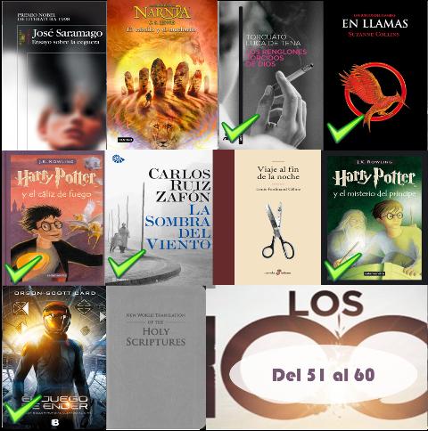 51 al 60 de los 100 mejores libros de todos los tiempos