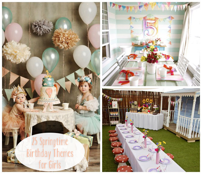 Little lovables lovely springtime birthday party themes for Baby girl birthday party decoration ideas