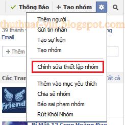 Cách đổi tên nhóm trên Facebook - hướng dẫn Group FB, cai dat nhom FB