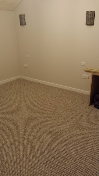 Brown bedroom carpet