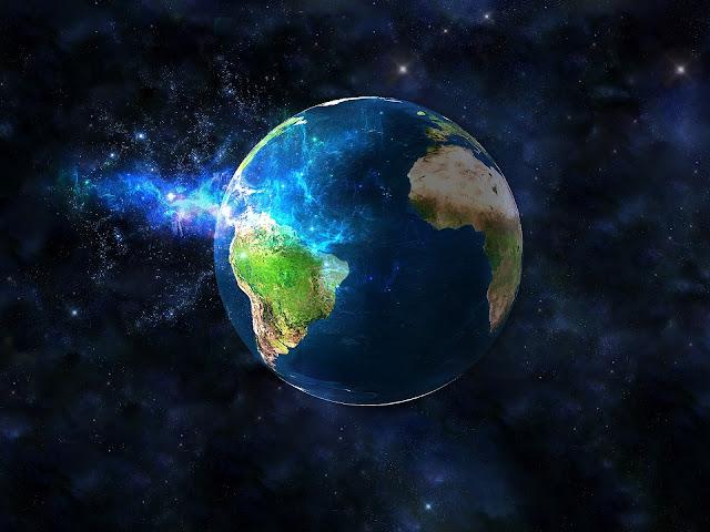 Brasil na transição planetária, luz azul, fótons na Terra