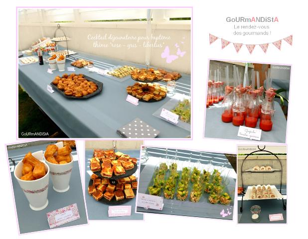 image Baptême thème liberties-rose-gris : cocktail dînatoire et buffet des desserts