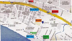 Lageplan des Kirchenraums