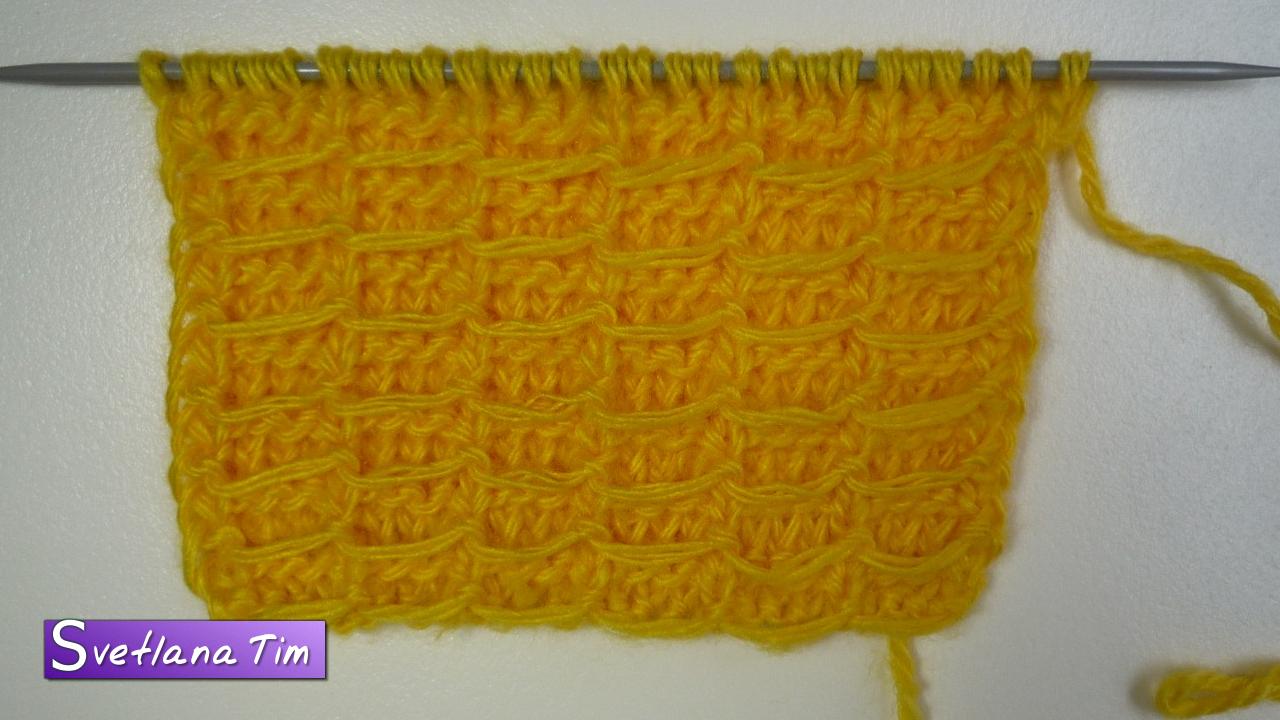 Видеоурок вязание на спицах косы