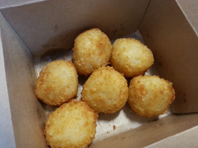Bloody amazing deep fried breaded risotto balls