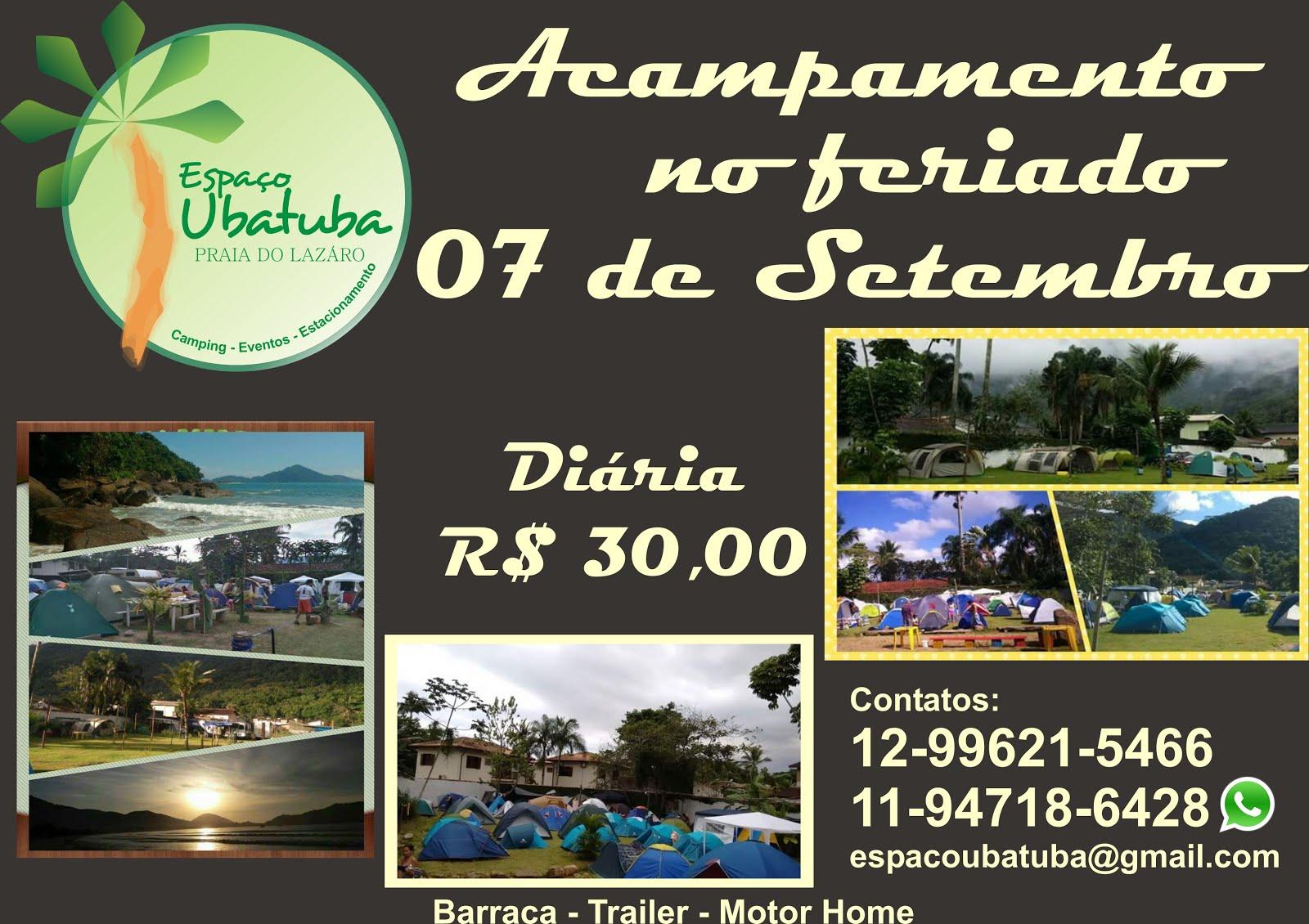 Feriado de 07 de Setembro Camping Espaço Ubatuba