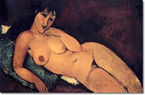 Amedeo Modigliani - Desnudo reclinado Artistica di