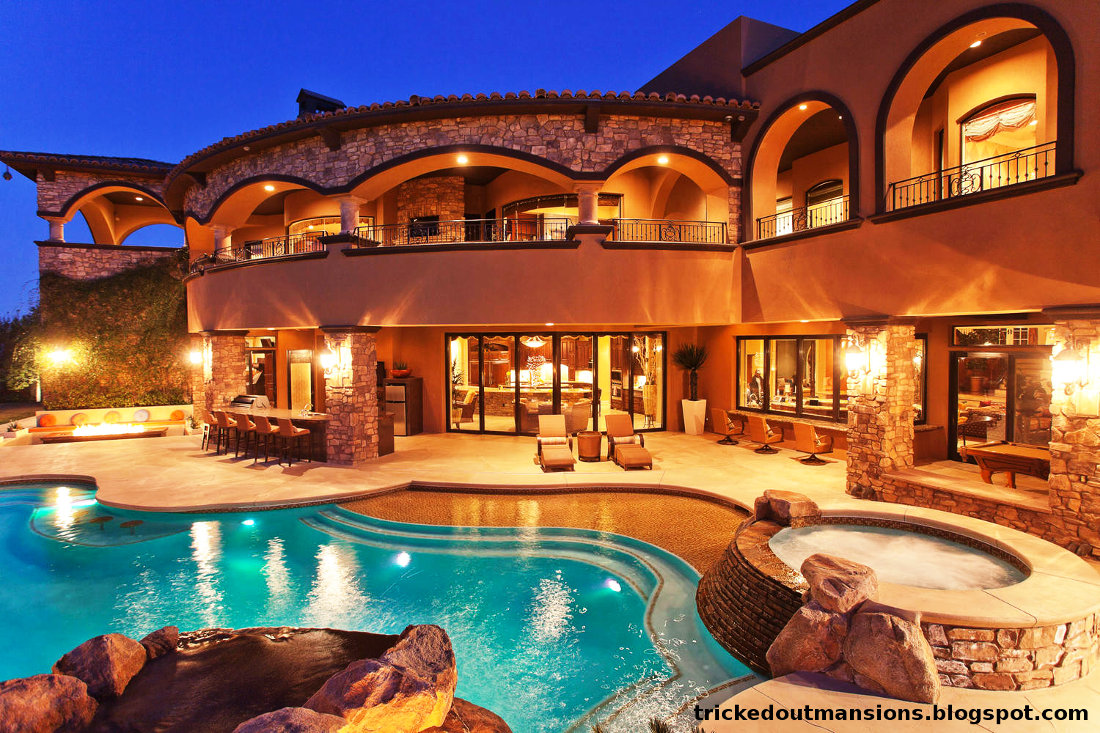 Tricked Out Mansions Showcasing Luxury Houses Beautiful Las