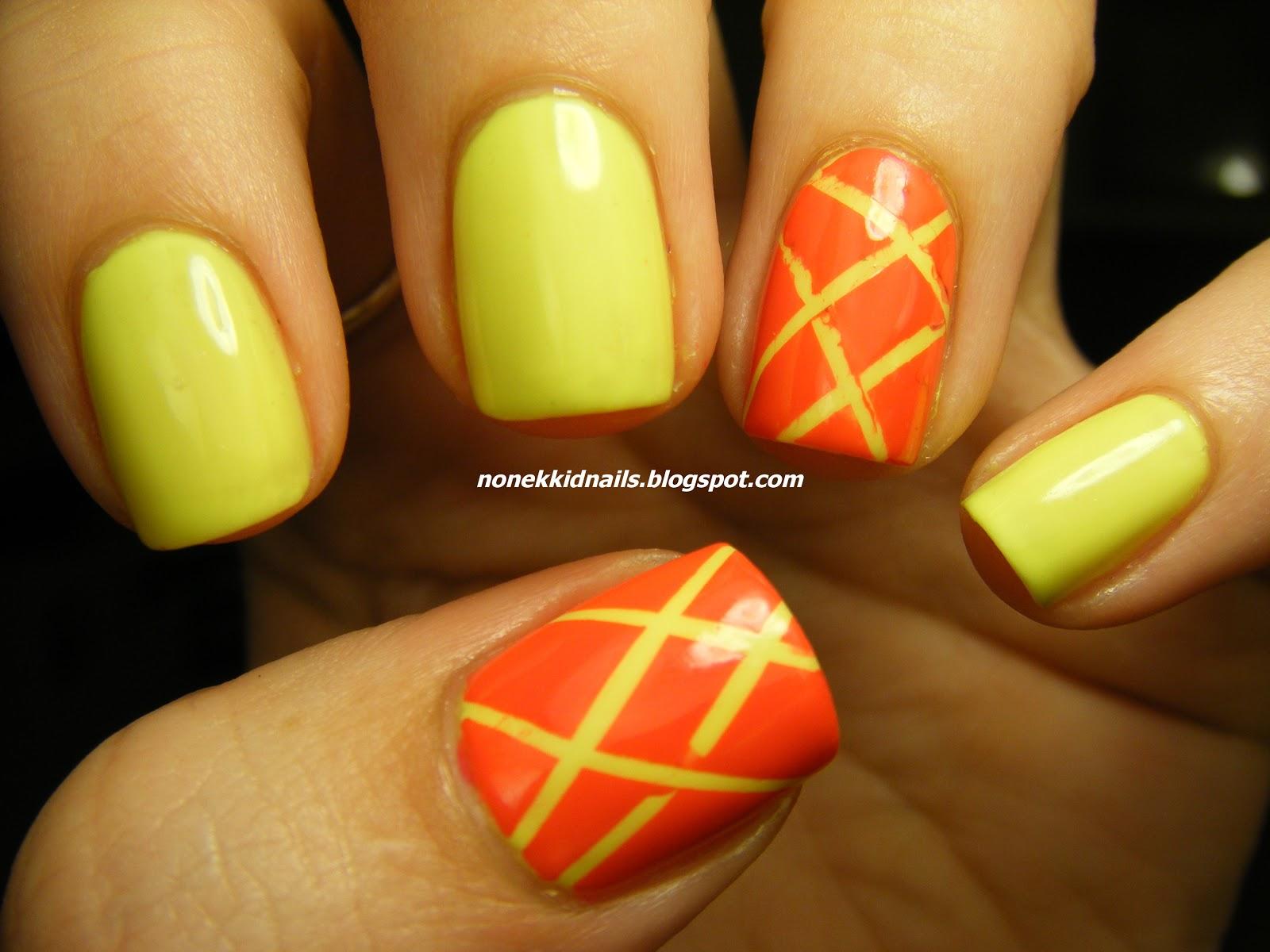 No Nekkid Nails: China Glaze Celtic Sun and Color Club Warhol Tape Mani
