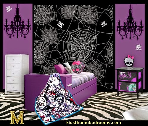 monster high theme bedroom decorating ideas maries manor theme