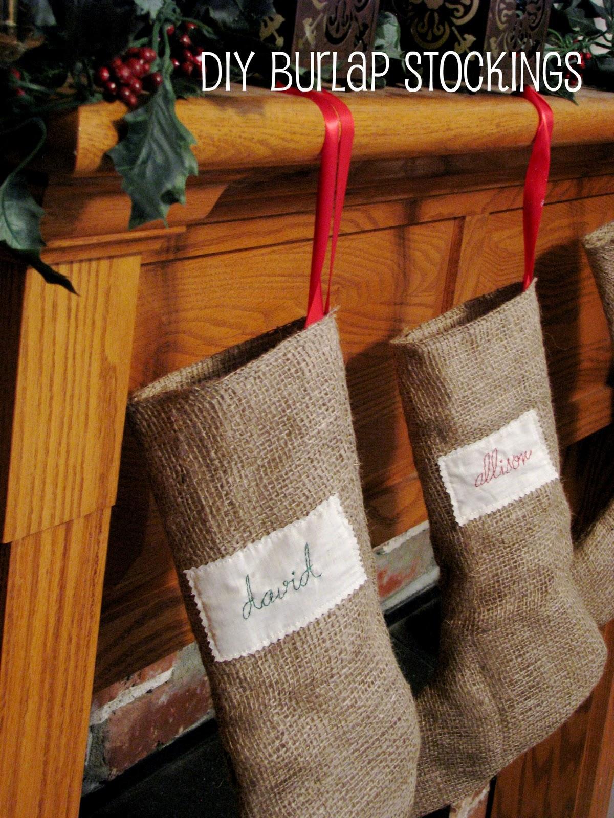 That 39 S Mellifluous Diy Burlap Stockings